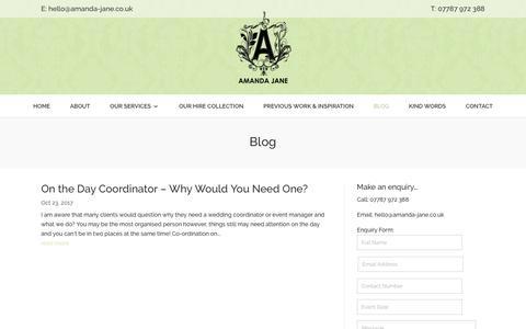 Screenshot of Blog amanda-jane.co.uk - Blog - Amanda Jane - captured July 13, 2018