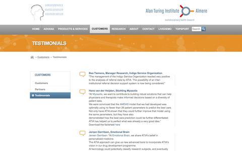 Screenshot of Testimonials Page ati-a.nl - Testimonials | Alan Turing Institute Almere - captured Feb. 5, 2016