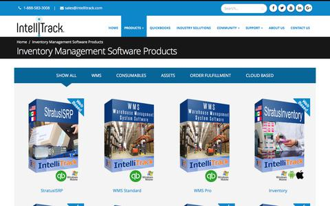 Screenshot of Products Page intellitrack.net - Inventory Management Software Products - Intellitrack - captured June 7, 2017