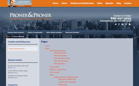 Screenshot of Site Map Page prolaw1.com - Proner Sitemap | Proner and PronerProner and Proner - captured Oct. 3, 2014