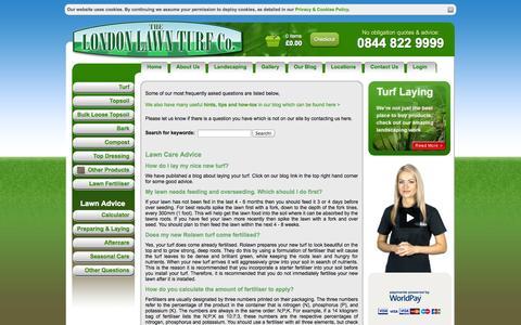 Screenshot of FAQ Page londonlawnturf.co.uk - London Lawn Turf -  Questions on Laying Turf & Lawn Care - London Lawn Turf - captured Sept. 30, 2014