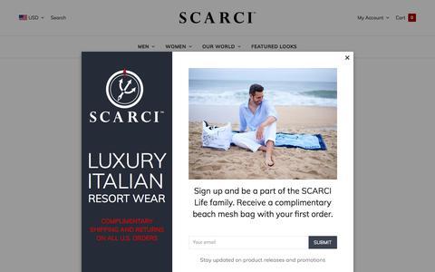 Screenshot of Support Page scarci.com - Customer Service - by SCARCI Italian Wear - captured July 25, 2018