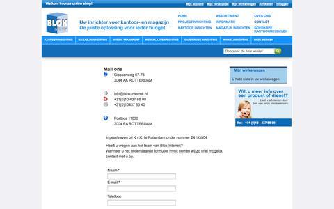 Screenshot of Contact Page blok-interrek.nl - Magento Commerce - captured Oct. 5, 2014