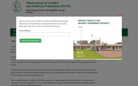 Screenshot of About Page ocvp.org - About US - captured Dec. 2, 2016
