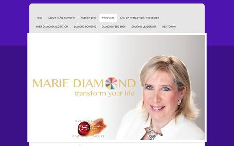 Screenshot of Products Page mariediamond.com - Marie Diamond - Products - captured Jan. 25, 2017