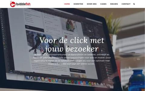 Screenshot of Home Page bubblefish.nl - Internetbureau Barendrecht - Bubblefish - captured Feb. 8, 2016