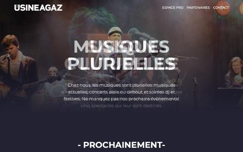 Screenshot of Home Page usineagaz.ch - Usine à Gaz - captured Nov. 21, 2018