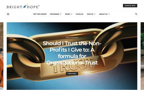 Screenshot of Press Page brighthope.org - News – Bright Hope - captured Nov. 6, 2018