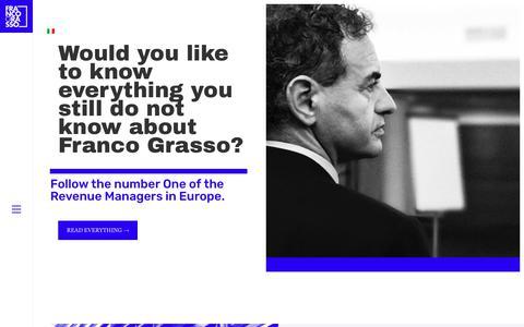 Screenshot of francograsso.com - Franco Grasso – Il numero 1 dei Revenue Manager in Europa - captured Dec. 19, 2018