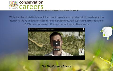 Screenshot of Signup Page conservation-careers.com - Conservation Careers Memberships - Welcome to the world of Conservation Careers. Members get access to the biggest Conservation Job Board and the best Conservation Careers Advice on the planet. Share your Passion. Discover your Dream Job. Enjoy your  - captured Dec. 10, 2015