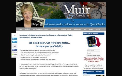 Screenshot of Home Page muirassoc.com - QuickBooks Landscaping Lawn Care Irrigation Job Costing Frederick MD Home - captured Nov. 30, 2016