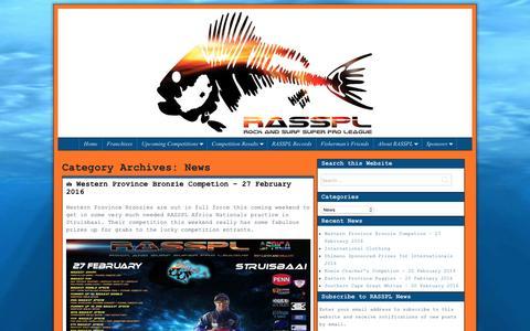 Screenshot of Press Page rasspl.com - News – RASSPL - captured Feb. 22, 2016