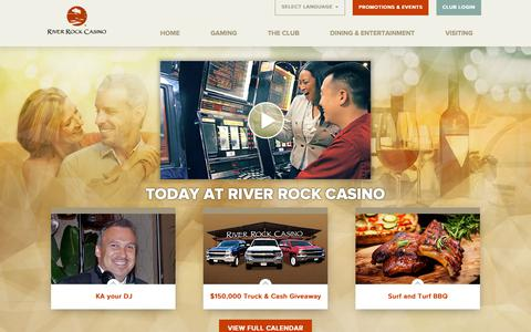 Screenshot of Home Page riverrockcasino.com - River Rock Casino | Sonoma County, CA | California Casino - captured Nov. 17, 2018