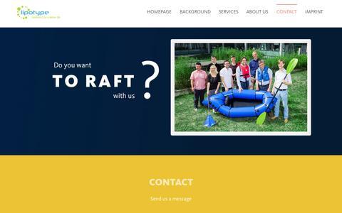 Screenshot of Contact Page lipotype.com - Contact | Lipotype - captured Oct. 2, 2014