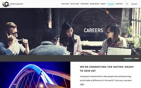 Screenshot of Jobs Page inteliquent.com - Inteliquent | Careers - captured June 7, 2017