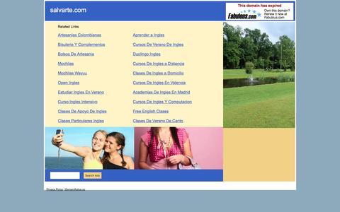 Screenshot of Home Page salvarte.com - salvarte.com - captured May 27, 2017