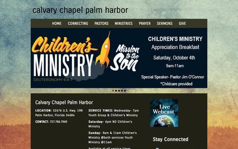 Screenshot of Home Page ccpalmharbor.org - calvary chapel palm harbor - captured Oct. 1, 2014
