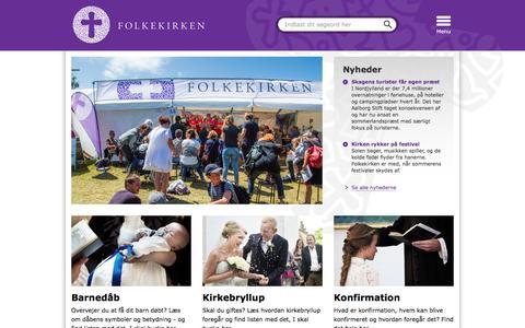 Screenshot of Home Page folkekirken.dk - Folkekirken.dk   Folkekirken.dk - captured Aug. 4, 2016