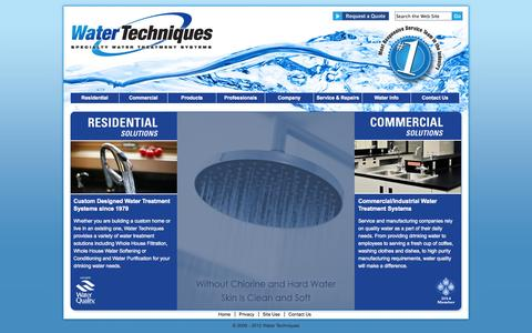 Screenshot of Home Page watertechniques.com - Water Techniques - Home - captured Sept. 30, 2014