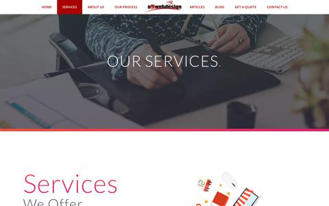 Screenshot of Services Page o5webdesign.com - Services – Web Design & Search Engine Optimization Services Gauteng | o5webdesign - captured June 16, 2017