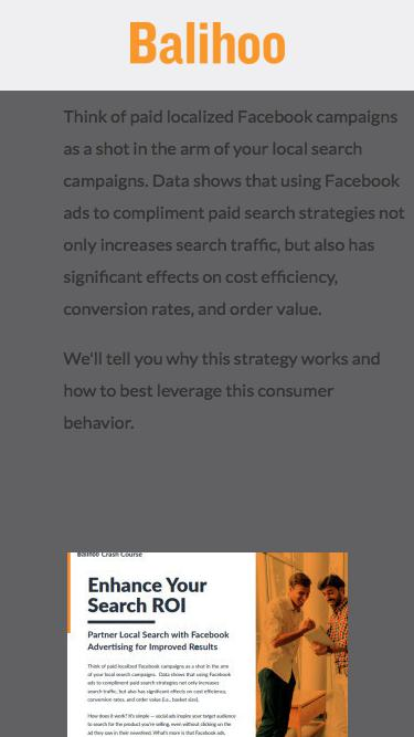 Crash Course: Enhance Your Search ROI by Partnering Search with Facebook