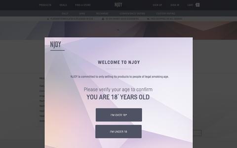 Screenshot of Team Page njoy.com - NJOY Electronic Cigarette Company | NJOY's Executive Team | NJOY - captured Oct. 22, 2015