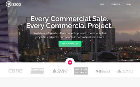 Screenshot of Home Page vizzda.com - Vizzda: Commercial Real Estate Data - captured Nov. 15, 2017