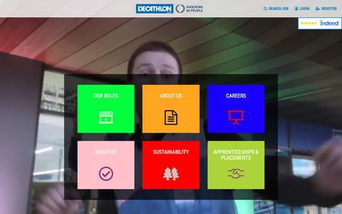 Screenshot of Jobs Page decathlon.co.uk - Decathlon Job Portal | Active Careers for Active People - captured Nov. 12, 2019