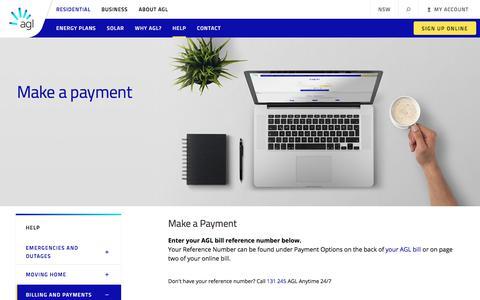 Make a Payment | AGL