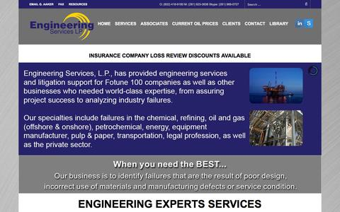 Screenshot of Home Page engineering-experts.com - Engineering Expert Witnesses and Engineering Consultants - captured March 3, 2016