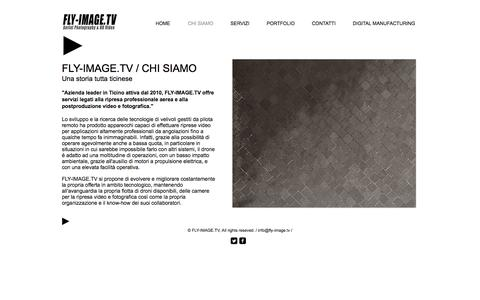 Screenshot of About Page fly-image.tv - FLY-IMAGE.TV - Aerial Photography & HD Video | CHI SIAMO - captured Oct. 13, 2017
