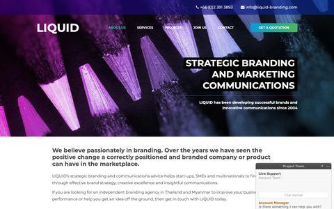 Screenshot of About Page liquid-branding.com - About LIQUID BRANDING – Creative Branding and Communications Agency - captured Sept. 29, 2018