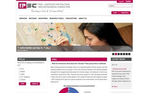 Screenshot of Home Page ipsc.am - IPSC - captured Oct. 4, 2014