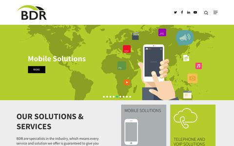 Screenshot of Home Page bdrgroup.co.uk - IT & Telecom Solutions, Cloud, WiFi & Telecoms Provider - captured Oct. 4, 2018