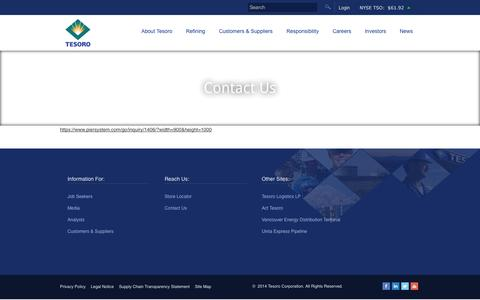Screenshot of Contact Page tsocorp.com - Contact Us | TSOCORP - captured Sept. 19, 2014