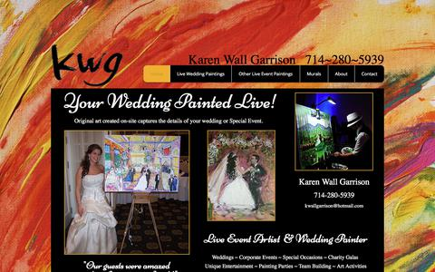 Screenshot of Home Page karenwallgarrison.com - Karen Wall Garrison Paintings - captured Oct. 8, 2017