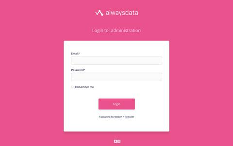 Screenshot of Login Page alwaysdata.com - administration | alwaysdata - captured Oct. 10, 2019
