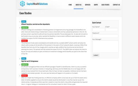 Screenshot of Case Studies Page capitalwealthsolutions.com - Capital Wealth Solutions - captured Oct. 20, 2016
