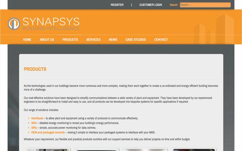 Screenshot of Products Page synapsys-solutions.com - Synapsys Solutions - Products - captured Oct. 7, 2014