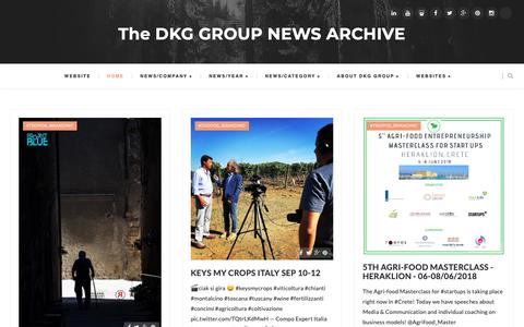 Screenshot of Press Page dkggroup.com - The DKG GROUP NEWS ARCHIVE - captured Nov. 18, 2018