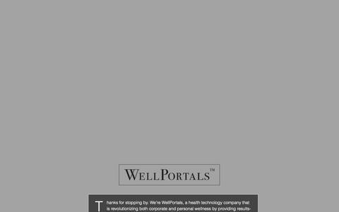 Screenshot of Blog About Page wellportals.com - WellPortals - captured Oct. 9, 2014