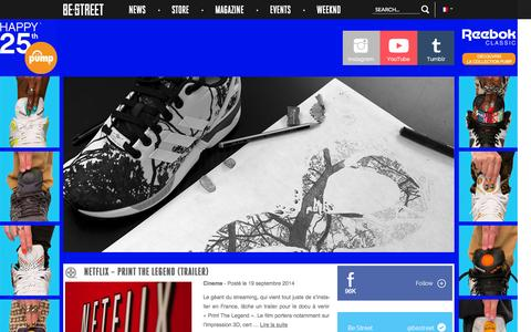 Screenshot of Home Page About Page be-street.com - Be Street | French Urban Magazine - captured Sept. 22, 2014