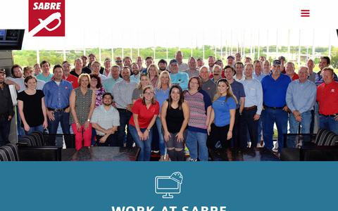 Screenshot of Jobs Page sabrecommercial.com - Careers - Sabre Commercial, Inc. - captured Oct. 1, 2018