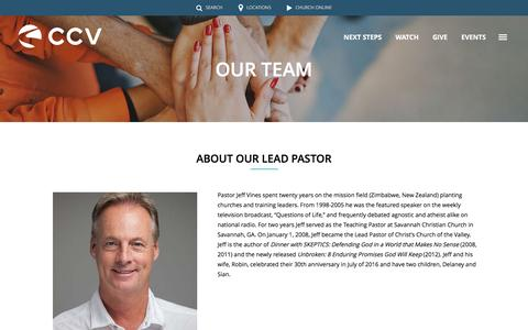 Screenshot of Team Page ccvsocal.com - Our Team | Christ's Church of the Valley - captured Nov. 5, 2016