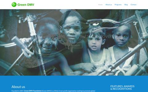 Screenshot of Contact Page greendmvfoundation.org - Green DMV Foundation | Poverty solved sustainability - captured Oct. 28, 2014