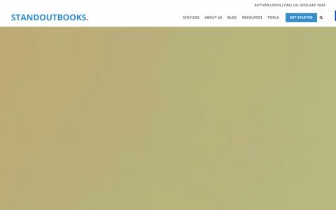 Screenshot of Home Page standoutbooks.com - Standoutbooks Author Services for Authors and Publishers - captured Jan. 17, 2016