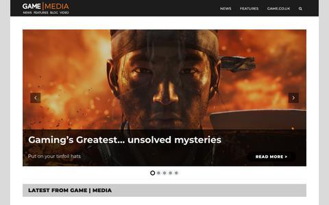 Screenshot of Press Page game.co.uk - Home - GAME | Media - captured Nov. 25, 2019