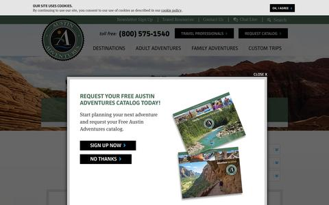 Screenshot of Site Map Page austinadventures.com - Site Map - Austin Adventures - captured Dec. 27, 2015