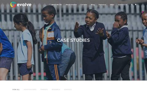 Screenshot of Case Studies Page evolvesi.com - Case Studies | Evolve - captured June 28, 2018