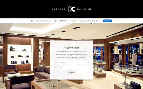 Screenshot of Login Page klondikecontracting.com - Login | Klondike Contracting - captured Oct. 15, 2018